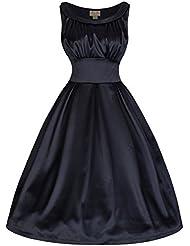 Lindy Bop Selema Millésime Cinquantaines Style Satiné Robe De Soirée