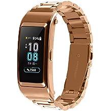 Bestow Huawei B5 Smart Watch Brazalete de Pulsera de Acero Inoxidable Reloj Banda de Banda Smartwatch