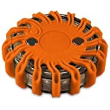 Powerflare Akku LED Warnleuchte in orange - Warnblitzer inklusive Akku und Ladegerät