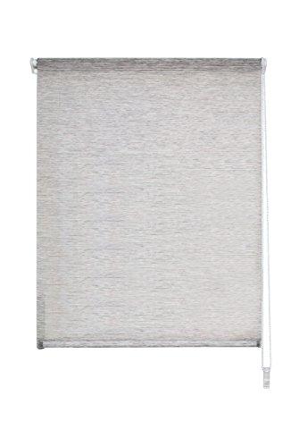 Home fashion grigio 67103–703–h: 140x b: 40cm tenda a rullo con catenella querstreifen bambusoptik