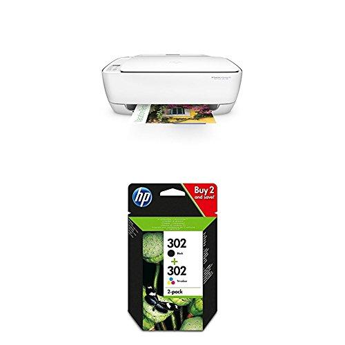 Preisvergleich Produktbild HP Deskjet 3636 Multifunktionsdrucker weiß + HP 302 Multipack