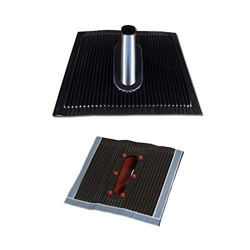 Universal-manschette-adapter (Aluminium Dachabdeckung Alu Dachziegel schwarz Dach Montage Abdeckung Ziegel Dachpfanne für Sat Dachsparrenhalter Universal Dach Pfanne)