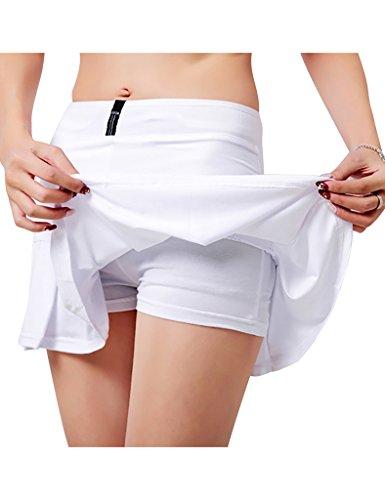 Jimmy Design Women's Pleated Skort Athletic Mini Skirts Integrated Shorts Tennis Pants