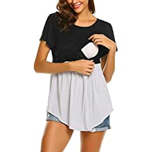 Ropa Premama Premamá Camiseta Naturazy Mujer Embarazada Lactancia Camisetas De Manga Corta Top Doble Capa Blusa