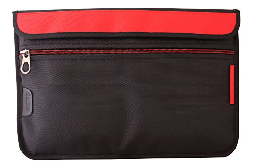 Saco Laptop Envelope Sleeve Bag Case Cover with shoulder strap for Micromax Canvas Lapbook L1161 11.6 inch laptop - Red