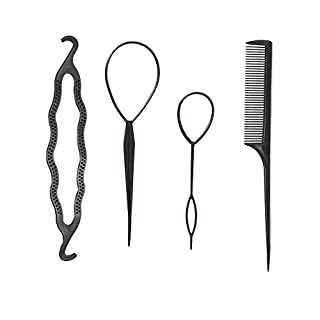 Topsy Tail Hair Tool, Fast Hair Styling Accessories for Ponytail Loop Bun Maker