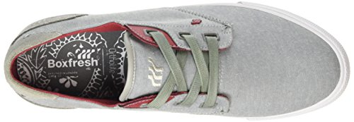Boxfresh Stern Inc Cmbry/Sde Gry/Ch Red, Baskets Basses Homme Gris - Grau (GREY/CHILLI RED)