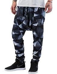 VSCT Clubwear Herren Hosen / Jogginghose 3-D Black Geomatrix