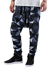 VSCT Clubwear Hombres Pantalones / Pantalón deportivo 3-D Black Geomatrix