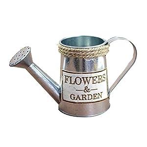 JUNGEN Jarrón Decorativo Creativo florero del Hierro de la Vendimia florero de Forma de hervidor Decoración Simple para jardín casero