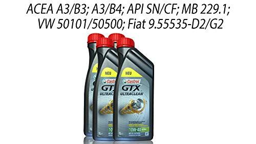 Castrol GTX Ultraclean 10W-40 A3/B4 Grey, 4x1 Liter
