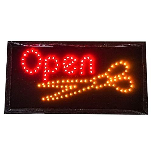 XUE Öffnen Haircut Schild, Geschäftsleben Sign 2 Licht-Modi, Windows-Zeichen for Friseure, Friseurläden, Schönheitssalons (19 * 10 Zoll)