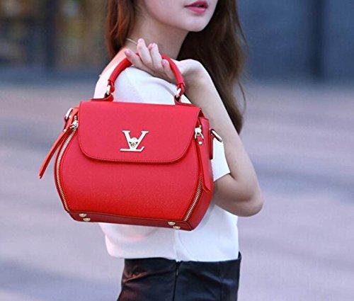 Borsa A Tracolla Tote Bag Donna Elegante Borsa Shopper Borsa A Tracolla In Pelle PU Borsa A Mano Ladies Borsa Piccola Donna Red