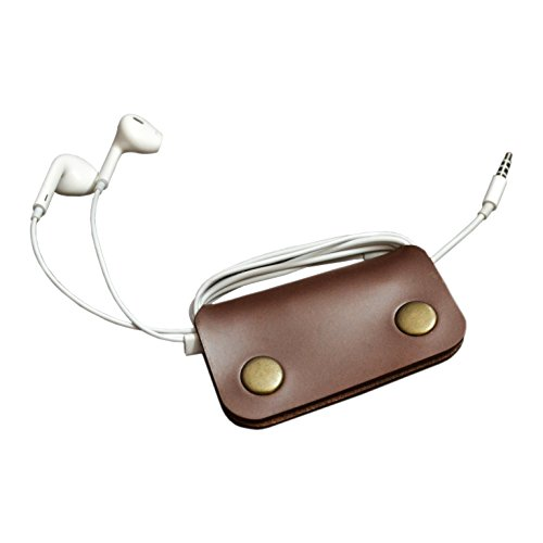 Faux Leather Brown earphone Winder Wallet Case earphone Manager  available at amazon for Rs.76