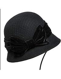 2b30578072427 GHC Gorras y Sombreros Mujer de otoño Fishman Sombrero Lana Mantener Cálido  Sombrero ( Color   Black