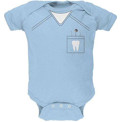 Halloween Zahnarzt Scrubs Kostüm Licht blauen weiches Baby 1 Gepäckstück - 18-24 Monate