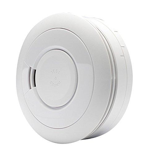 Ei Electronics Professional EI650IW-3XD i-Serie-Rauchwarnmelder mit fest eingebauter 10-Jahres-Lithiumbatterie; funkvernetzbar mit Funkmodul 3 V, weiß