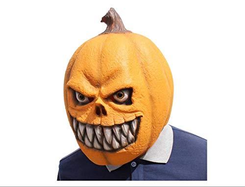 Maskerade Horror Kürbis Kopfbedeckung Latex Maske Scary Party Vollgesichtsmaske Kinderparty Lustige Halloween Maskerade Maske,A,A