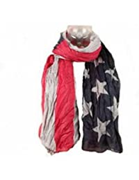 Foulard Cheche USA Drapeau Americain Vintage Tendance Collection Printemps Eté 2013 - 160 cm x 100 cm