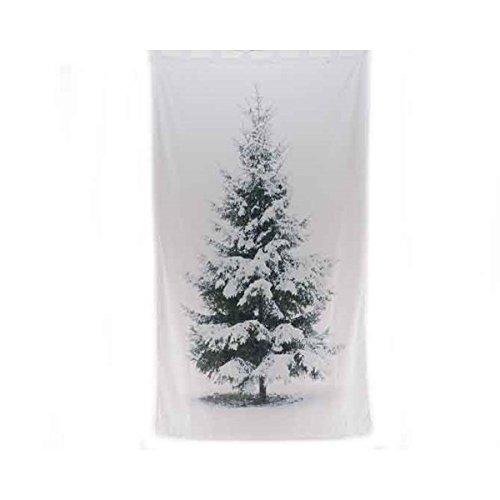 Tenda albero di natale innevato 140x240cm - bianco e verde