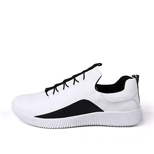 XIGUAFR Homme Chaussure de Sport de Course en Cuir Chaussure Casual Respirant Printemps
