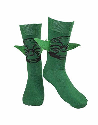 Bioworld - Chaussettes Star Wars Yoda avec Oreilles - 43 - 46