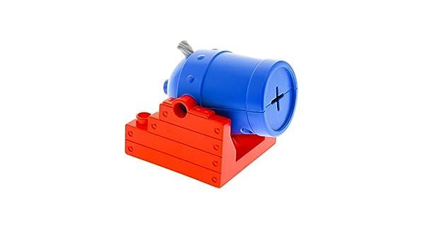 1 x Lego Duplo Kanone rot 4x4 Rohr blau Piraten Boot Zirkus 5593 54848c01 54849