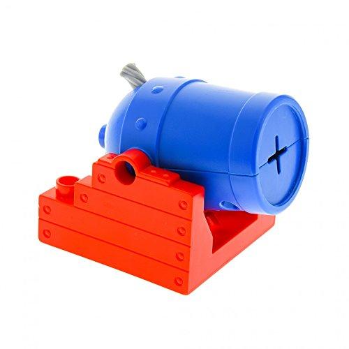 1 x Lego Duplo Kanone Halter rot 4x4 Kanonen Rohr blau Set Piraten Boot Schiff Ritter Burg Zirkus 5593 54848c01 54849