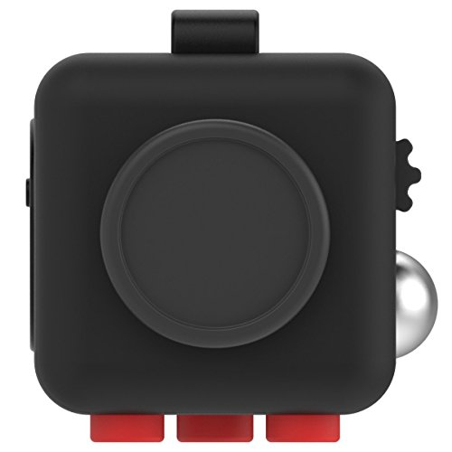 MMTX 2017 New Hand Fidget A Fidget Cube Relieves Stress For Anxiety for Adult and Children Great Gift for killing Time Red/Black -
