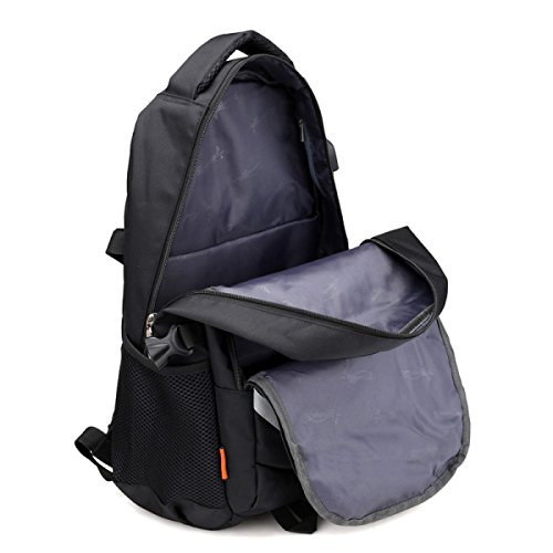 LQABW USB Outdoor Travel Escursionismo Zaino Scuola Scuola Studentessa Spalla Spalle Grande Capacità 20L,Grey Grey