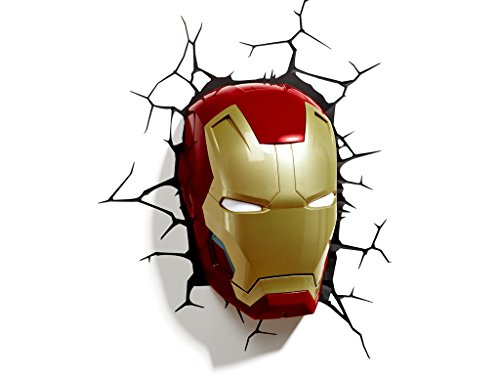 Image of Marvel 3D Led Light Ironman Mask