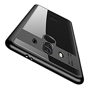 Huawei Mate 10 Pro Case , Vinve Slim Anti-Scratch Shockproof Cover Clear Hard Back Panel + TPU Bumper Protective Case for Huawei Mate 10 Pro (Black)