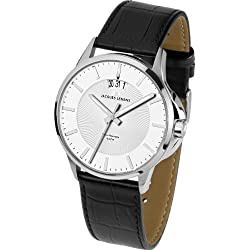 Jacques Lemans Sydney 1-1540B Men's Black Leather Strap Watch