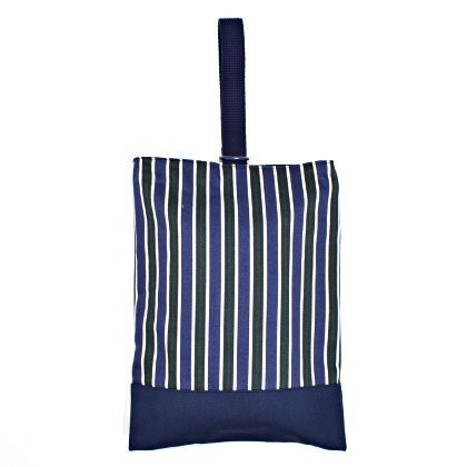 Kids shoes case of hand made sense (reversible) British stripe Forest x canvas, dark blue made in Japan N3192800 (japan import)