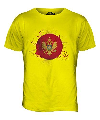CandyMix Montenegro Fußball Herren T Shirt Zitronengelb