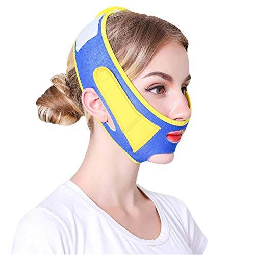 Lifting-Maske für Gesicht, Ladies Shaping V Gesicht Cheek Skin Care Bandagen Ultra-dünne Facelifting Artifact - Slim Strap,Blue -