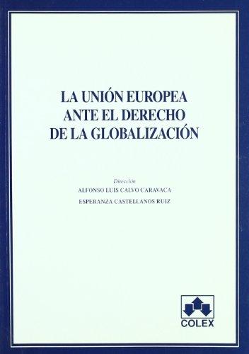 Portada del libro Union europea ante el dcho. De la global 1ª e