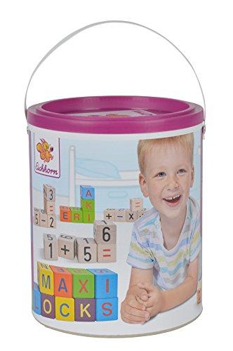 HEROS 100088301 - Cubos de madera con letras y números