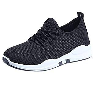 Amcool Damen Sneakers Running Trainer Lace Up Flat Bequeme Fitness Gym Sportschuhe Freizeitschuhe