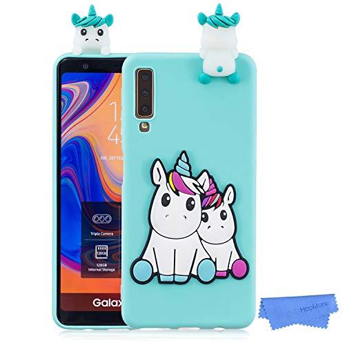 d783a52ea90 HopMore Funda para Samsung Galaxy A7 2018 Silicona Dibujo 3D Divertidas  Panda Animal Carcasa TPU Gel