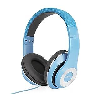 AUSDOM Ausinės für Kinder, Tragbare Kinder Over-Ear Ausinės, Lautstärkeregler Ausinės, 3,5 mm Kabel WiRot Kinder Headse-Blau