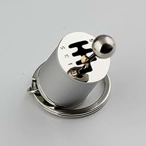Creative automatique partie modèle six-speed manuel levier de vitesses de transmission Clé chaîne porte-clés Anneau porte-clés Porte-clés (Argent)