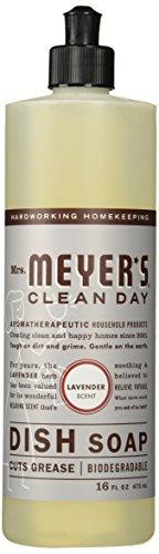 Mrs. Meyer's Clean Day Liquid Dish Soap - 16 oz - Lavender - 2 pk