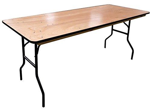 Table pliante rectangulaire Traiteur en bois 183cm
