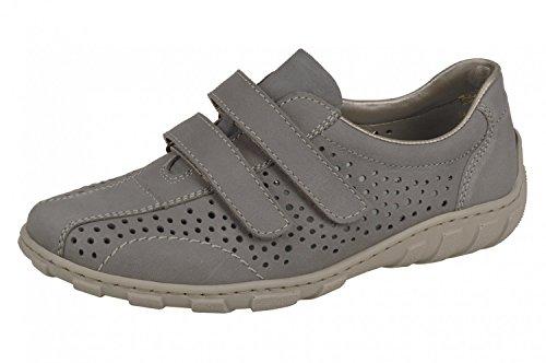 Rieker Mesdames Velcro Chaussures L3175-43 gris grau