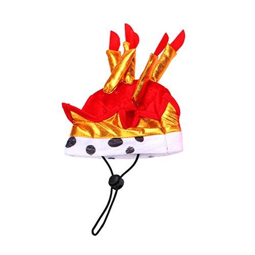 Toyvian Niedliche entzückende Katze Hund Pet Happy Birthday Party Hut mit Kuchen und Kerzen Design Cosplay Kostüm Zubehör Headwear (rot)