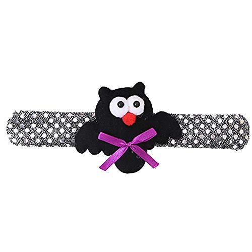 Yazidan Unisex Armband Halloween Glow Slap Armband Party Deko Pat Kreis Hand Ring Kürbis Bat Fest Glühendes Halloween Pat Clap Loop ()
