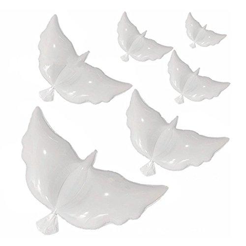 iShine Schutzhülle Peace Dove Ballons, 100große Weiß Taube Luftballons für Hochzeit Memorial Geburtstag Umweltfreundlich biologisch abbaubar Helium Luftballons