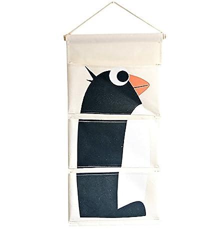 HilltopToCloud Cotton Fabric Wall Door Closet Hanging Storage Bag Case Pockets Home Organizer