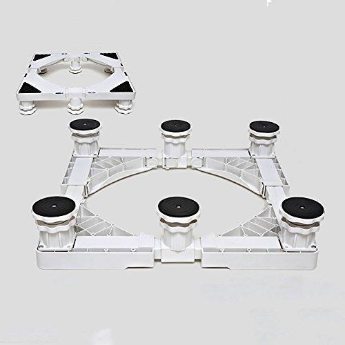 Verzinkt Solide Regal (QFFL Tablett Waschmaschine Base / Edelstahl Roller Bracket / Geräte erhöhen Bracket / beweglichen Regalen Elektrische dedizierte Basis ( Farbe : Weiß , größe : B ))